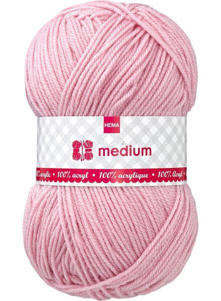 Strickgarn Medium Medium, 100 g hellrosa - 1400052 - HEMA