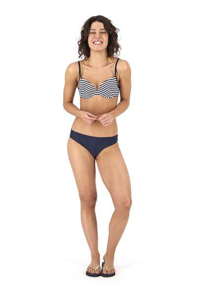 Bademode - HEMA Damen Bikinislip, Recycelt Blau  - Onlineshop HEMA