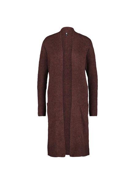 gilet en tricot pour femme marron marron - 1000014792 - HEMA