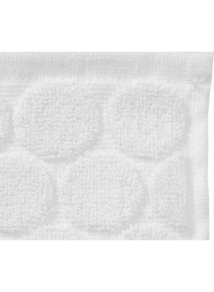 guest towel - 30 x 55 cm - heavy quality - white dot white guest towel - 5200054 - hema