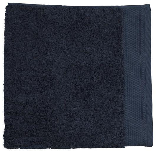 handdoeken - hotel extra zwaar donkerblauw donkerblauw - 1000024246 - HEMA