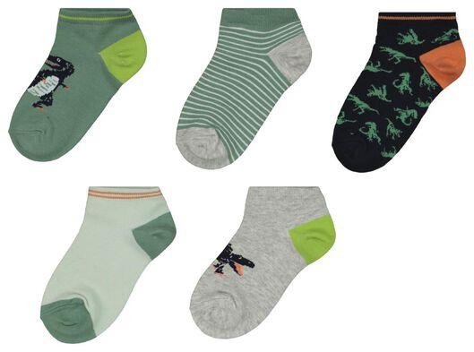 5er-Pack Kinder-Socken, Dinosaurier schwarz/weiß schwarz/weiß - 1000022731 - HEMA