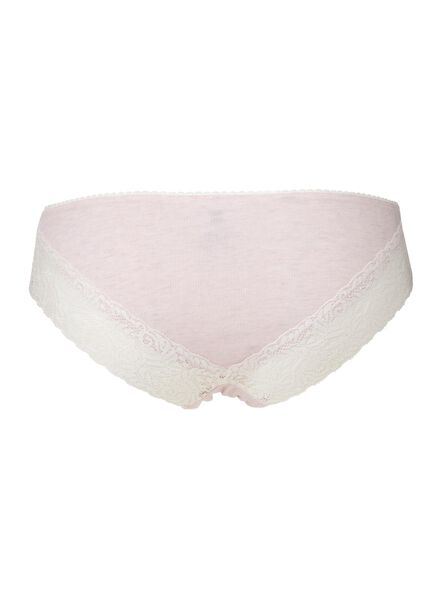 3-pack women's briefs light pink light pink - 1000006554 - hema