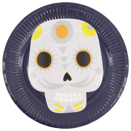 10 assiettes en papier ⌀23 cm - Dia de los Muertos - 25200549 - HEMA