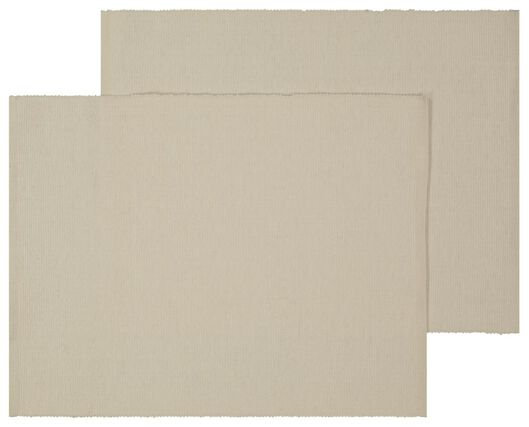 2 place mats 24x42 cotton beige - 5390012 - hema