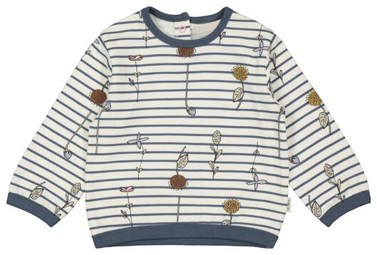 Babyoberteile - HEMA Baby Pullover, Streifen Eierschalenfarben - Onlineshop HEMA