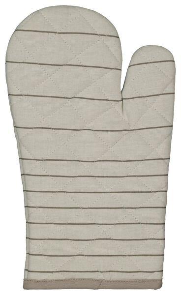 oven glove beige stripes - 5490055 - hema