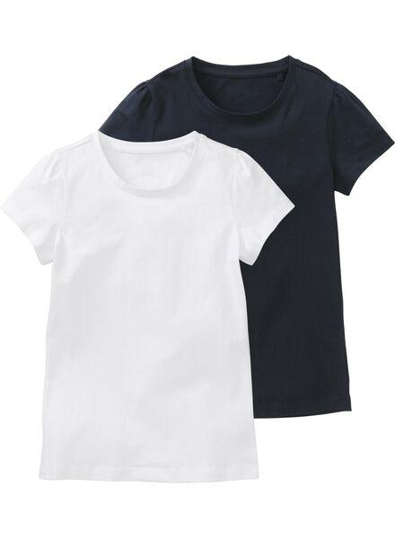 2-pack children's T-shirts dark blue dark blue - 1000006191 - hema