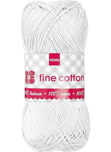 fil à tricoter fine cotton fine cotton blanc de laine - 1400009 - HEMA