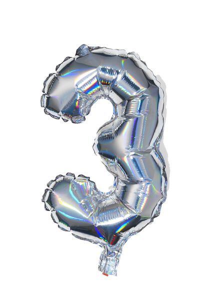folieballon 3 - zilver - 14200232 - HEMA