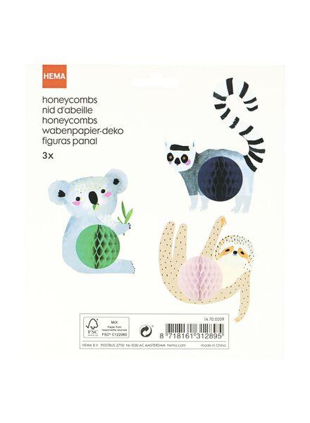 3 animaux en papier alvéolé - 14700209 - HEMA