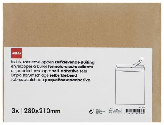 3 enveloppes à coussin d'air - 28 x 21 - 14130041 - HEMA