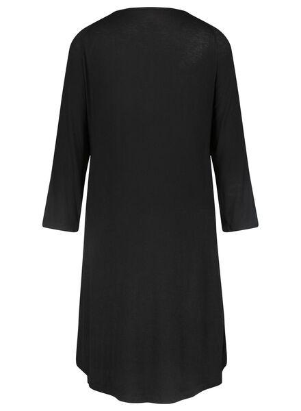 Damen-Nachthemd schwarz schwarz - 1000015505 - HEMA