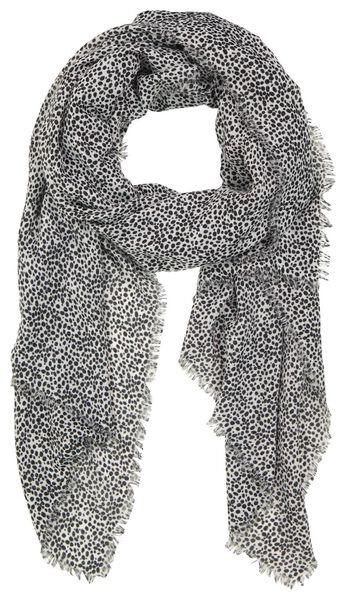 écharpe femme 200x80 pois noir/blanc - 1780036 - HEMA