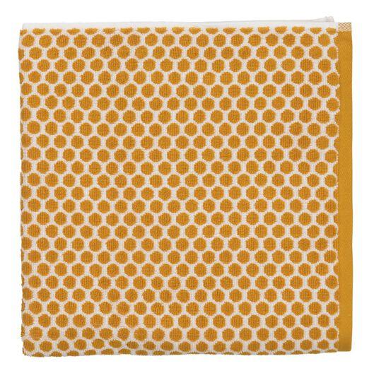 towel - 70 x 140 cm - heavy quality - ochre dotted yellow ochre towel 70 x 140 - 5220027 - hema