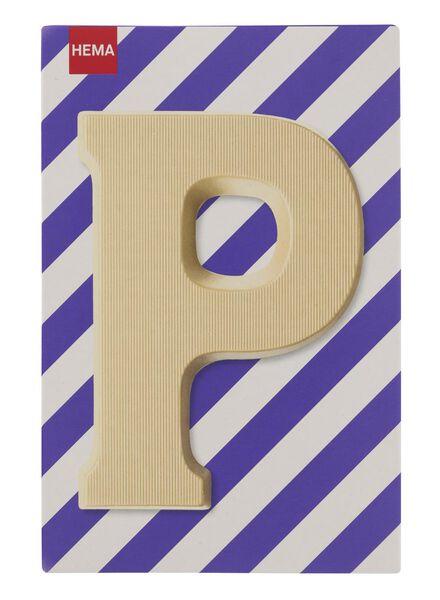 white chocolate letter P - 10037014 - hema