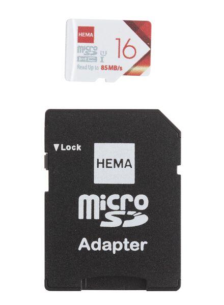 carte mémoire micro SD 16 Go - 39520010 - HEMA