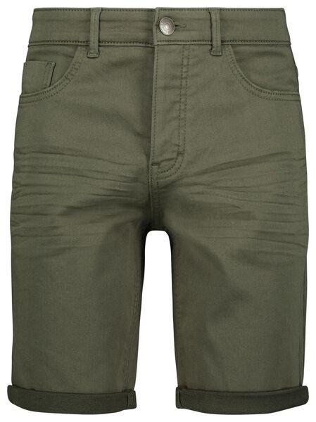 kurze Herren-Jogdenim graugrün graugrün - 1000023612 - HEMA
