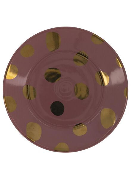 side plate - 17 cm - Bergen - pink with gold-coloured dot - 9602085 - hema
