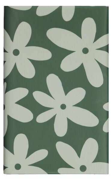 tafelzeil 240x140 polyester groen bloemen - 5320025 - hema
