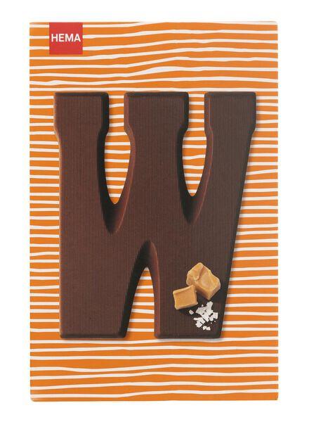 caramel sea salt milk chocolate letter W - 10039021 - hema