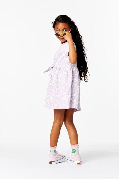 Kinder-Kleid, Blumen lila 86/92 - 30876424 - HEMA