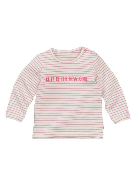 newborn T-shirt pink pink - 1000006387 - hema