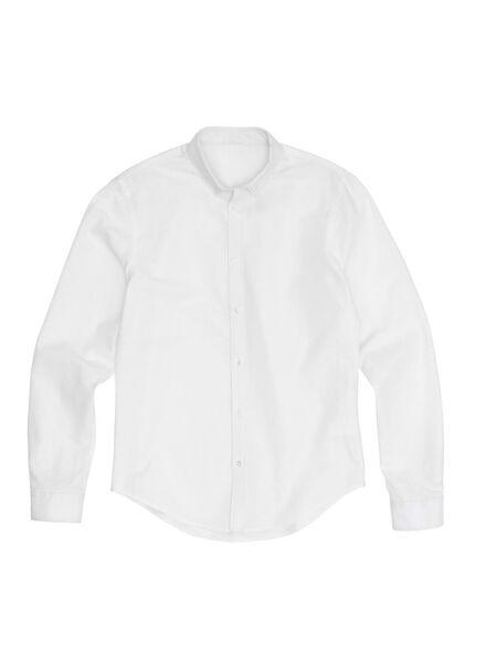 Herren-Oberhemd weiß weiß - 1000012239 - HEMA
