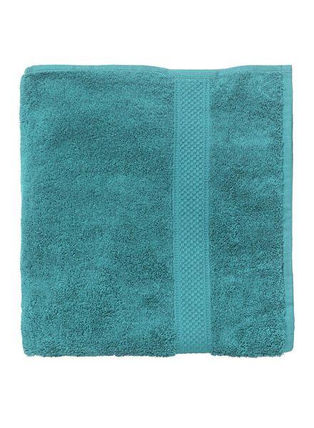 serviette de bain-70x140 cm-qualité épaisse-vert foncé uni - 5240024 - HEMA