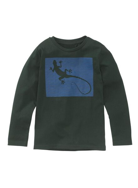 children's T-shirt dark green dark green - 1000006874 - hema