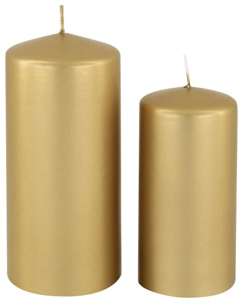 grosses bougies doré doré - 1000015630 - HEMA