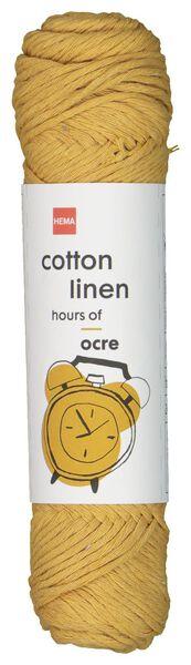Garn, Baumwoll-Leinenmischung, 83 m, ockergelb ocker Cotton Linen - 1400200 - HEMA