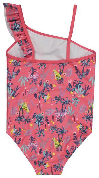 children's swimsuit flounced dark pink dark pink - 1000022716 - hema