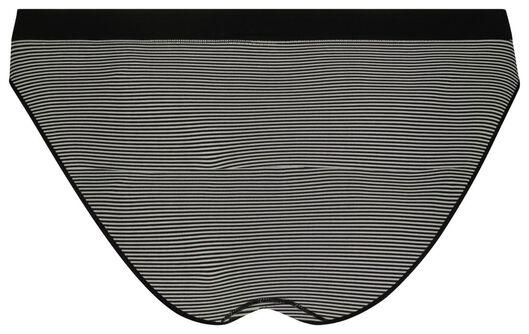 women's slip briefs seamless black/white black/white - 1000018640 - hema