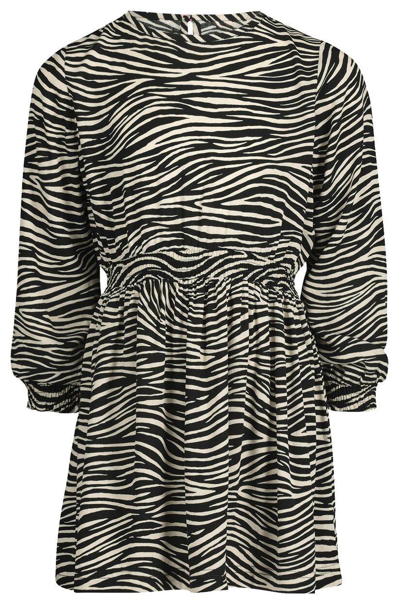 kinder-kleid, zebramuster schwarz/weiß - hema
