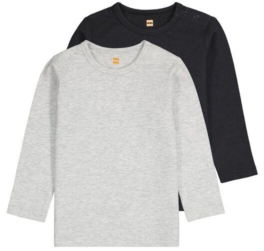 HEMA 2er-Pack Baby-Shirts, Bambus Schwarz