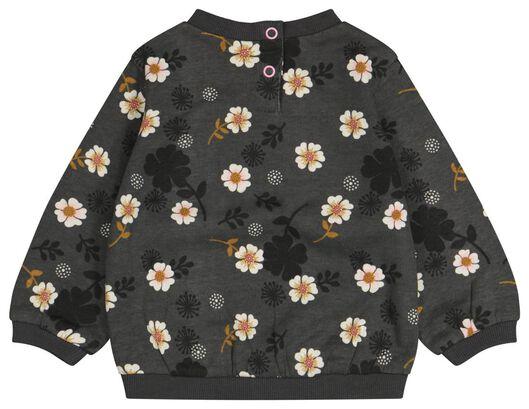 Baby-Sweatshirt, Blumen grau grau - 1000024463 - HEMA
