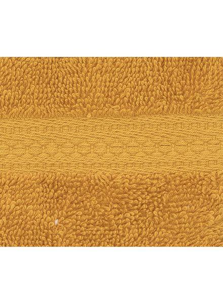 Waschhandschuh - schwere Qualität - ockergelb, uni - 5220024 - HEMA