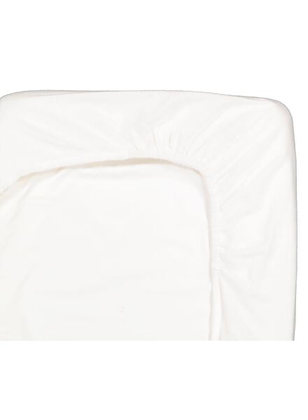 drap-housse 160x200 flanelle - blanc - 5100010 - HEMA