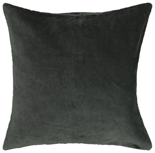 Kissenbezug, 50 x 50 cm, Velours, grün - 7322014 - HEMA
