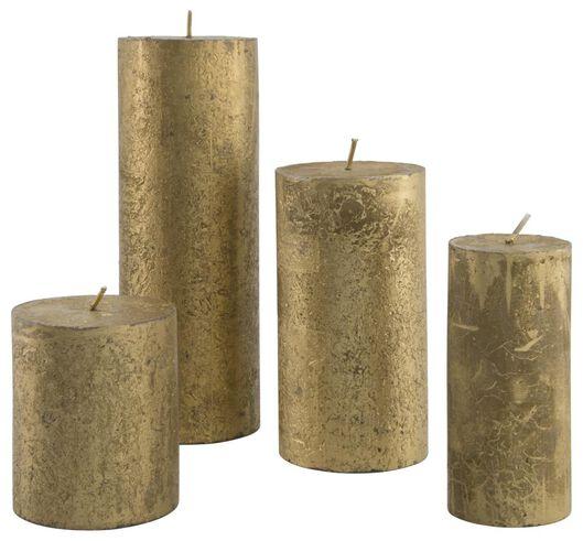 bougies rustiques doré doré - 1000015405 - HEMA