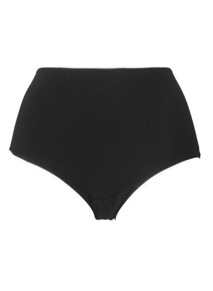3-pack high waist women's briefs cotton black black - 1000006536 - hema