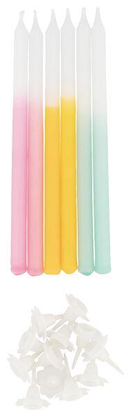 12 cake candles and holders - 14200464 - hema