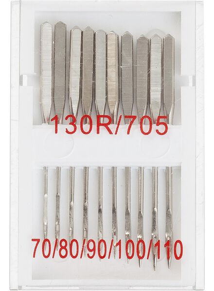 lot de 10 aiguilles pour machineà coudre - 1472085 - HEMA