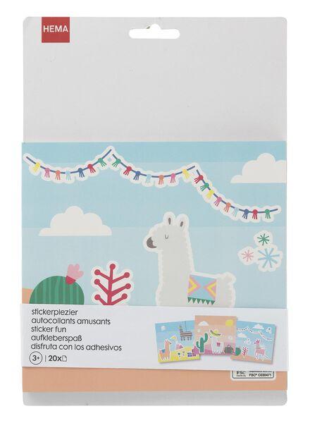 Malbuch mit Aufklebern, Alpakas - 15920145 - HEMA
