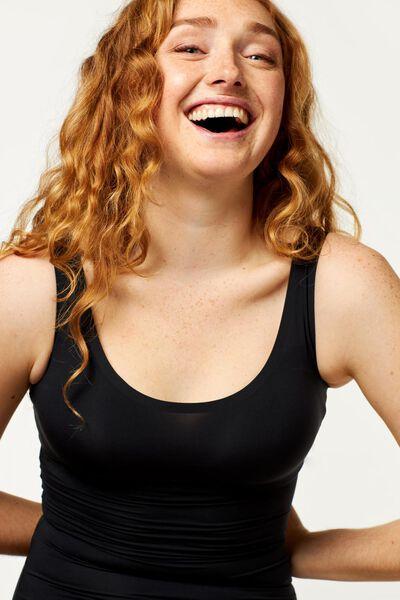 Damen-Hemd Second Skin schwarz schwarz - 1000002420 - HEMA