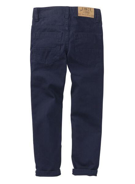 pantalon regular garçon bleu foncé bleu foncé - 1000003834 - HEMA