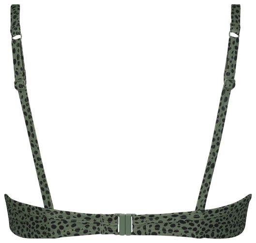 Damen-push-up-Bikinioberteil mit Bügeln, A – D, Animal graugrün graugrün - 1000022853 - HEMA