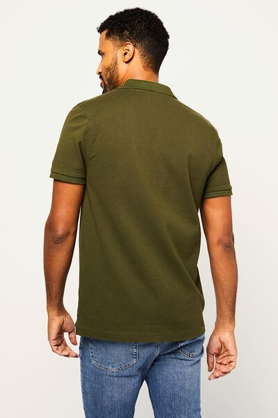 herenpolo piqué groen groen - 1000022447 - HEMA