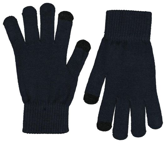 2-pack men's gloves touchscreen grey grey - 1000020396 - hema